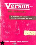 Verson Dies, Press Brakes Punch Attachments Manual 1948