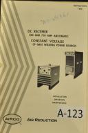 Airco DC Rectifer 500 & 750 Amp Full Operators Manual
