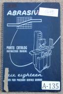 Abrasive 618 Surface Grinder Instruction & Parts Manual