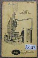 Avey No. 250 Turret-Dex Drilling Machine Parts List