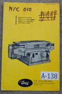 Avey 25x35 and 30x40 NC Positioning Table Instructions