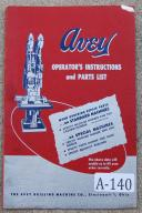 Avey No. 2 BMA-6 & No.3 BMA-6 Instruction Parts Manual
