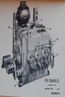 Artos W-3 Operating & Parts List Instructions Manual
