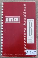 Arter Model B Surface Grinder Parts & Instruction Manual