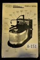 Air-Vac PCBRM-12 Wave Drag Soldering Machine Manual