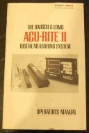 ACU-RITE II Digital Readout DRO Operators Manual