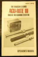 ACU-RITE III Digital Readout DRO Operators Manual