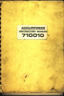 Accurpress 710010 Series Press Brake Instruction Manual