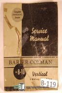 Barber Colman No. 8-10 Vertical Hobbing Parts Manual
