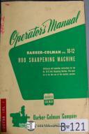 Barber-Colman 10-12 Hob Sharpener No.4 Operators Manual