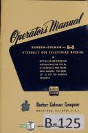 Barber-Colman No. 6-5 Gear Sharpening Operators Manual
