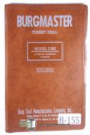 Burgmaster 3-BH Turret Drill Service Manual Year 1954