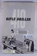 W.F. & John Barnes 410 Rifle Driller Operation Manual
