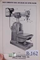 Baush Mdl. R-756 & R-758 Radial Drilling Machine Manual