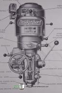 Bridgeport J-Head Operators Manual & Parts List (1955)