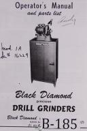 Black Diamond Standard Drill Grinder Operation & Parts Manual