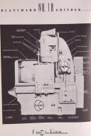 Blanchard No. 18 Rotary Surface Grinder Operation Maint. Manual