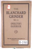 Blanchard No. 11 Vertical Surface Grinder Operators Manual