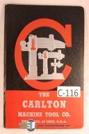 Carlton OA & 1A Radial Drill Maintenance & Care Manual