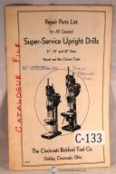 "Cincinnati Bickford 21"", 24"", 28"" Super Service Upright Drill"