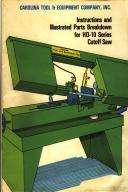 Carolina HD-10 Bandsaw Instruction & Parts Manual