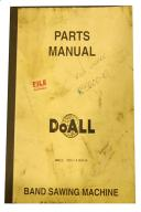 DoAll Bandsaw Mdl. 2013-1 & 2013-10 Parts Manual