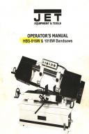 Jet HBS-916W & 1018W Bandsaw Operators Manual