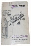 leblond regal lathe instruction & parts manual