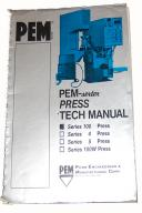 PemSerter Series 100 Press Operation & Parts Manual