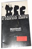 Rousselle Punch Press Parts Manual 1974